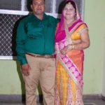 Sanjeev Srivastava with his wife