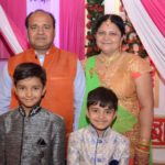 Sanjeev Srivastava with his wife and children