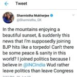 Sharmistha Mukherjee's Tweet