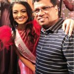 Shreya Rao Kamavarapu With Her Father