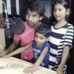 Soori With His Children Vennila And Sarvan