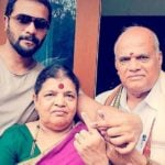 Srimurali with his parents