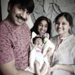 Srinivas Reddy with his wife Swathi Reddy and daughters