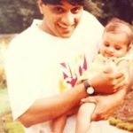 Surbhi Puranik (Childhood) with her father