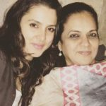 Tanya Deol with her mother