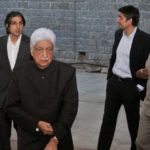 Tariq Premji with his father and brothrer
