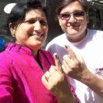 Tyagraj Khadilkar with his wife