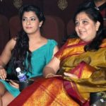 Varalaxmi Sarathkumar with her mother Chaya Sarathkumar