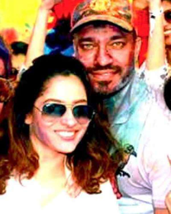 Vicky Jain With Ankita Lokhande At A Holi Bash In 2017