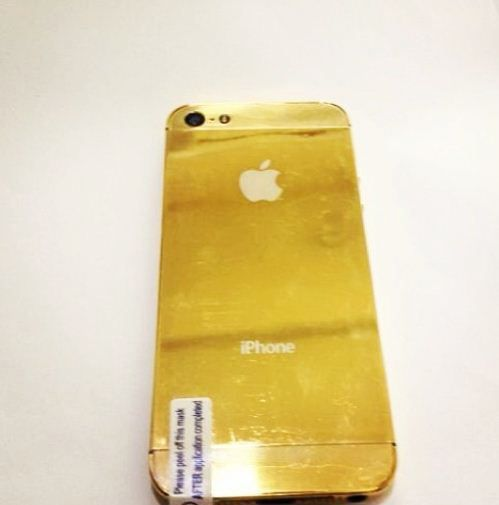 Vicky Jain's Gold iPhone