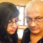 Yashika Anand With Her Father