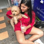 Yashika Anand With Her Pet Dog