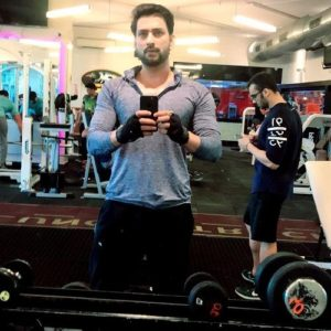 Aadesh Chaudhary at Gym