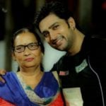 Aadesh Chaudhary with his mother