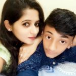 Aditi Rai with her brother