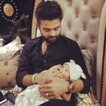 Ahmed Shehzad with his new born son