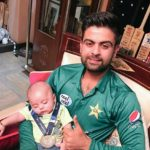 Ahmed Shehzad with his son