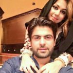 Ahmed Shehzad with his wife Sana Murad
