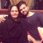 Ahmed Shezad with his mother