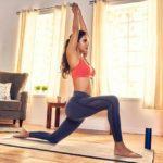 Aisha Sharma doing Yoga