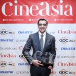 Ajay Bijli winning the CineAsia Award