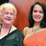 Amala Akkineni with her mother