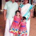 Anoop Chandran with his wife Vinaya Chandran and daughters