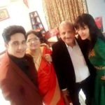 Anshul Pandey with his parents and sister Sakshi Pandey