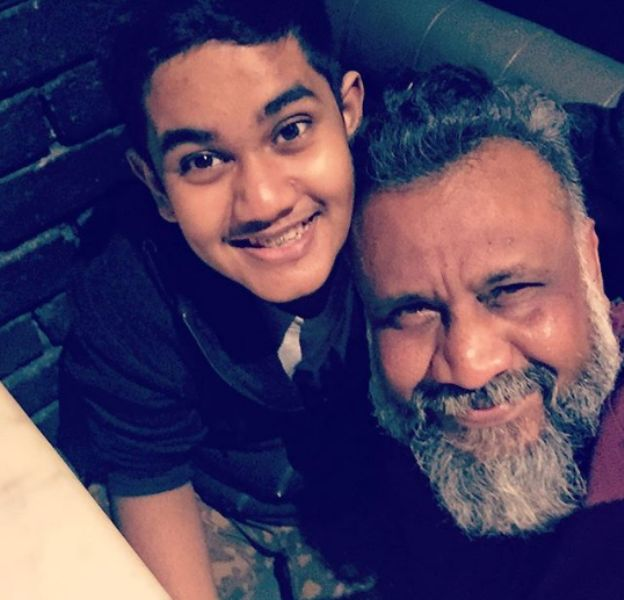 Anubhav Sinha With His Son
