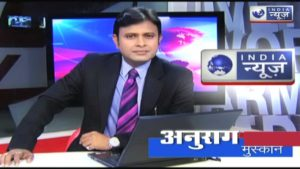 Anuraag Muskaan as an anchor on India News