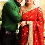 Anuraag Muskaan with his wife Sarika Anuraag