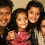 Anuraag Muskaan with his wife and daughters