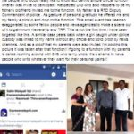 Archana Suseelan with her parents and DIG Pradeep in Facebook post