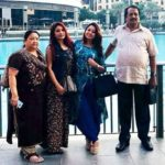 Archana Suseelan with her parents and sister Kalpana Suseelan