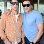 Aryaman Deol With His father Bobby Deol