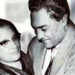 Ashok Kumar with his wife
