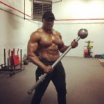 Bobby Lashley At The Gym