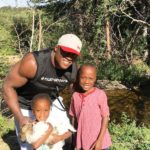 Bobby Lashley With His Son Myles And Daughter Naomi