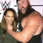 Braun Strowman's  Surname Scherr Written On Left Arm Tattoo