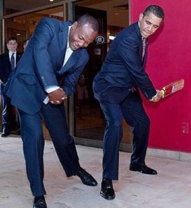 Brian Lara and Barack Obama