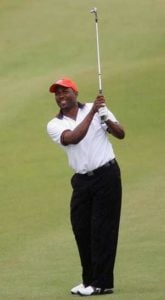 Brian Lara playing golf