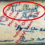 Dhyan Chand Signature