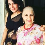 Divya Seth with her mother Sushma Seth