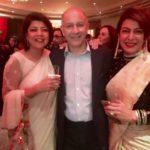 Divya Seth with her sister Priya Seth and brother Kavi Seth
