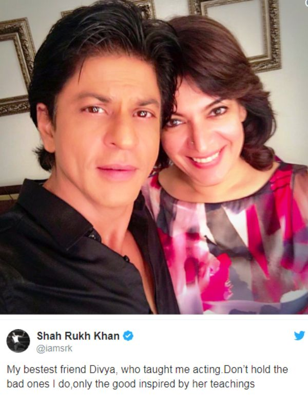 Divya Seth With Shah Rukh Khan