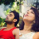 Divya Seth smoking
