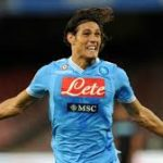 Edinson Cavani playing for Napoli