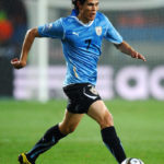 Edinson Cavani playing fot Uruguay in 2010 FIFA World Cup