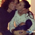 Edinson Cavani with his ex-girlfriend Maria Rosaria Ventrone