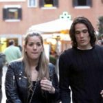 Edinson Cavani with his ex-wife Maria Soledad Cabris